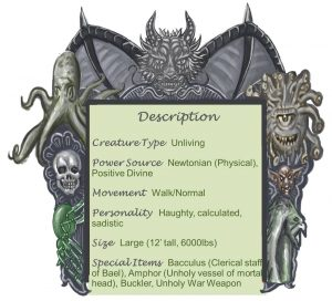 Bishop of Bael Description Chart