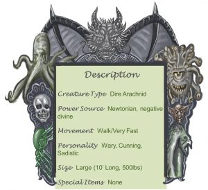 Dark Vinegaroon Descption Chart