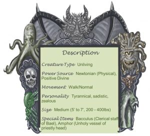Priest of Bael Description Chart