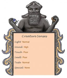 Priest of Bael Senses Chart